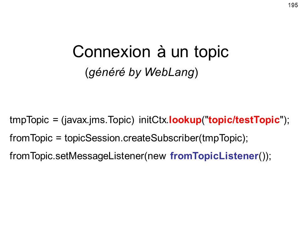 Connexion à un topic (généré by WebLang)