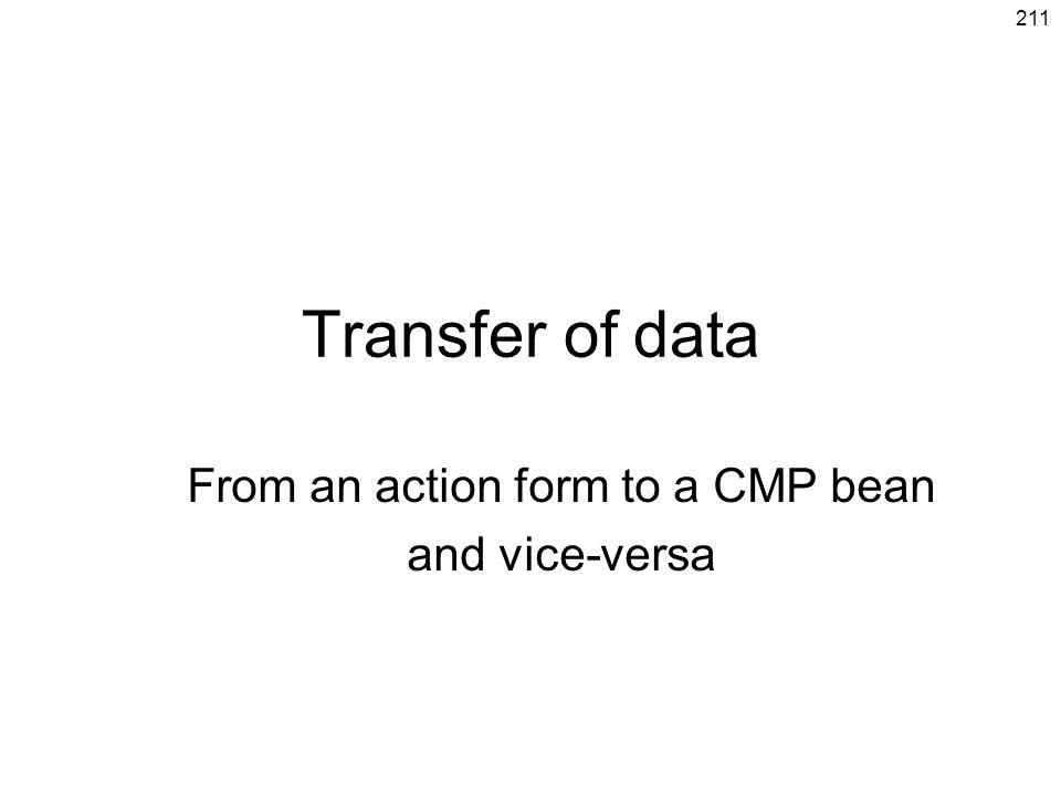 From an action form to a CMP bean and vice-versa