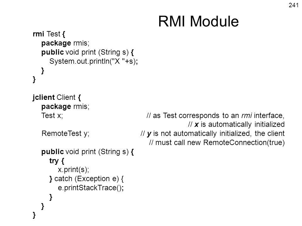 RMI Module