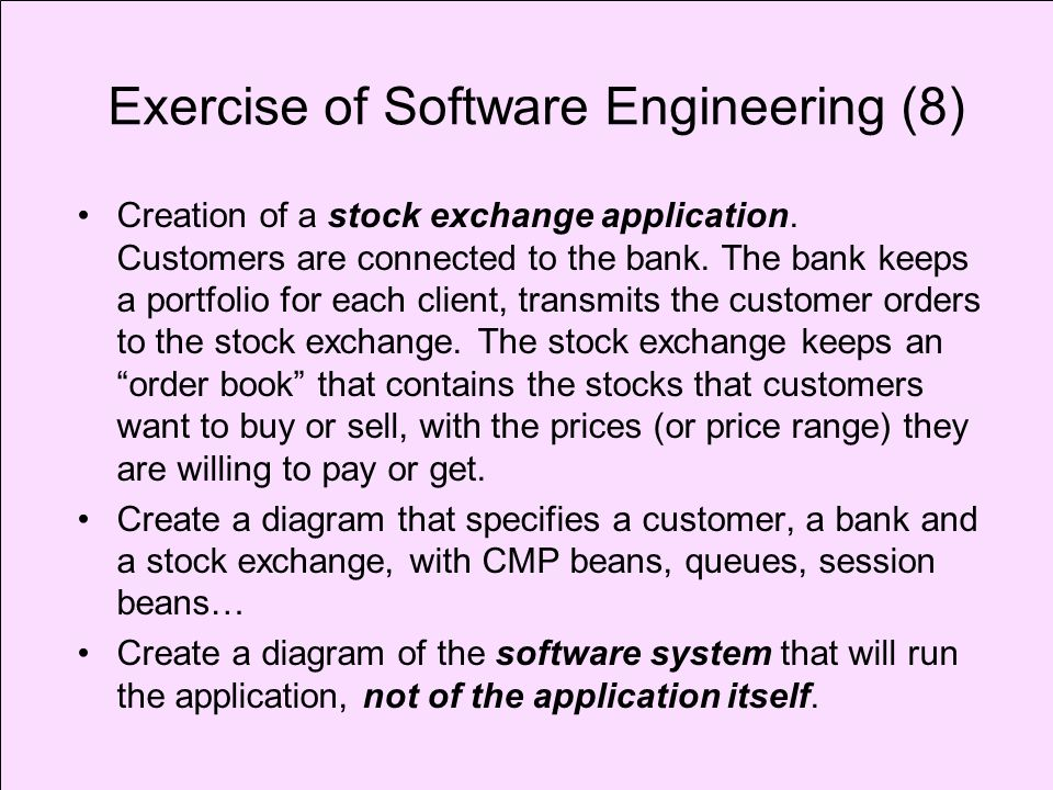 Exercise of Software Engineering (8)