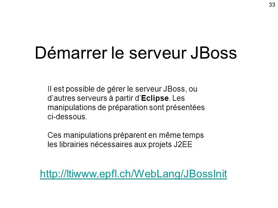 Démarrer le serveur JBoss