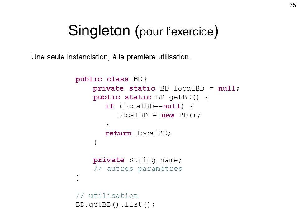 Singleton (pour l'exercice)