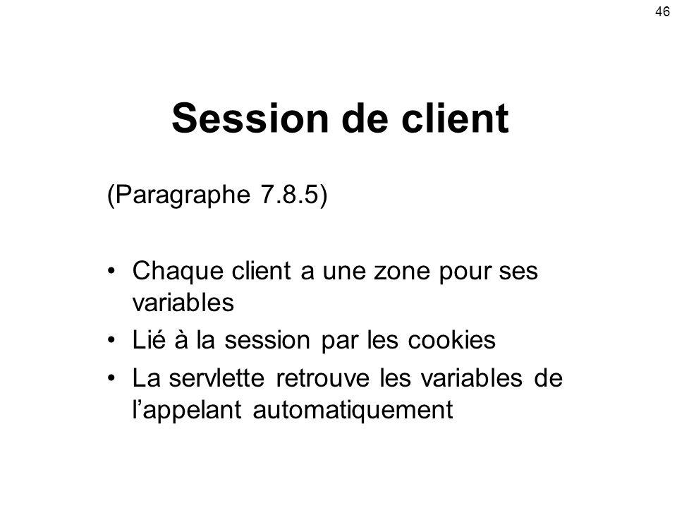 Session de client (Paragraphe 7.8.5)