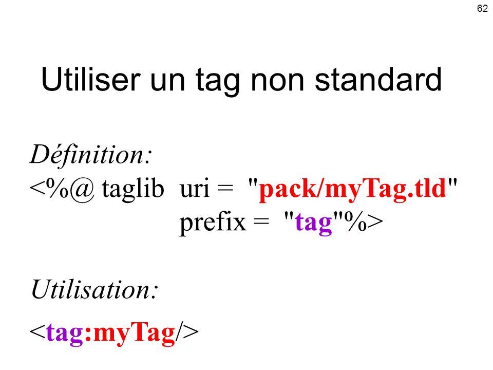 Utiliser un tag non standard