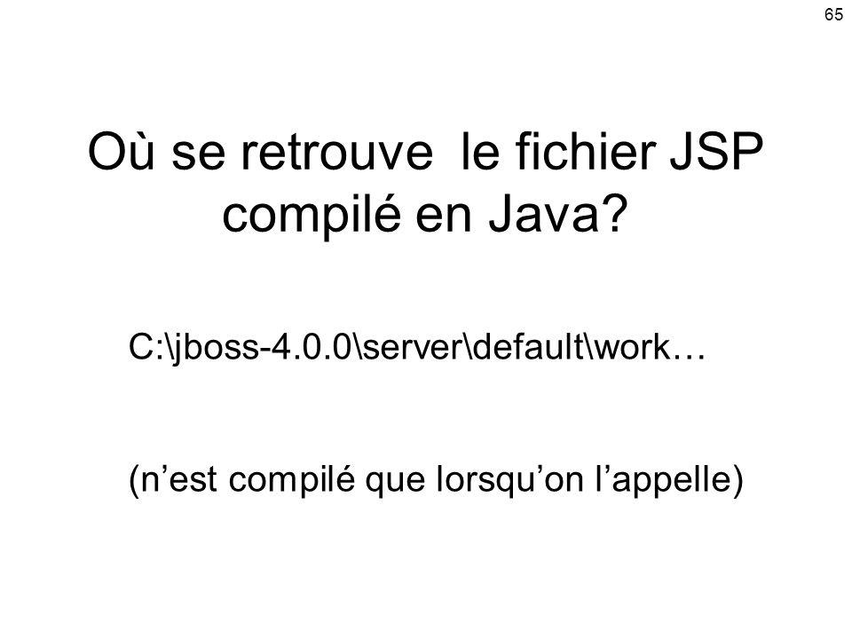 Où se retrouve le fichier JSP compilé en Java