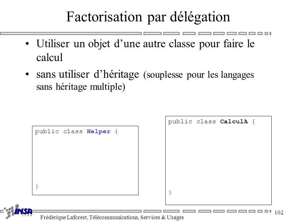 Factorisation par délégation