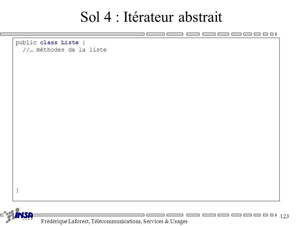 Sol 4 : Itérateur abstrait