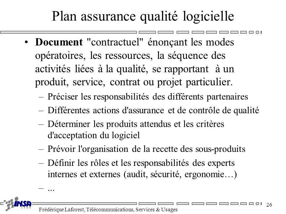Plan assurance qualité logicielle