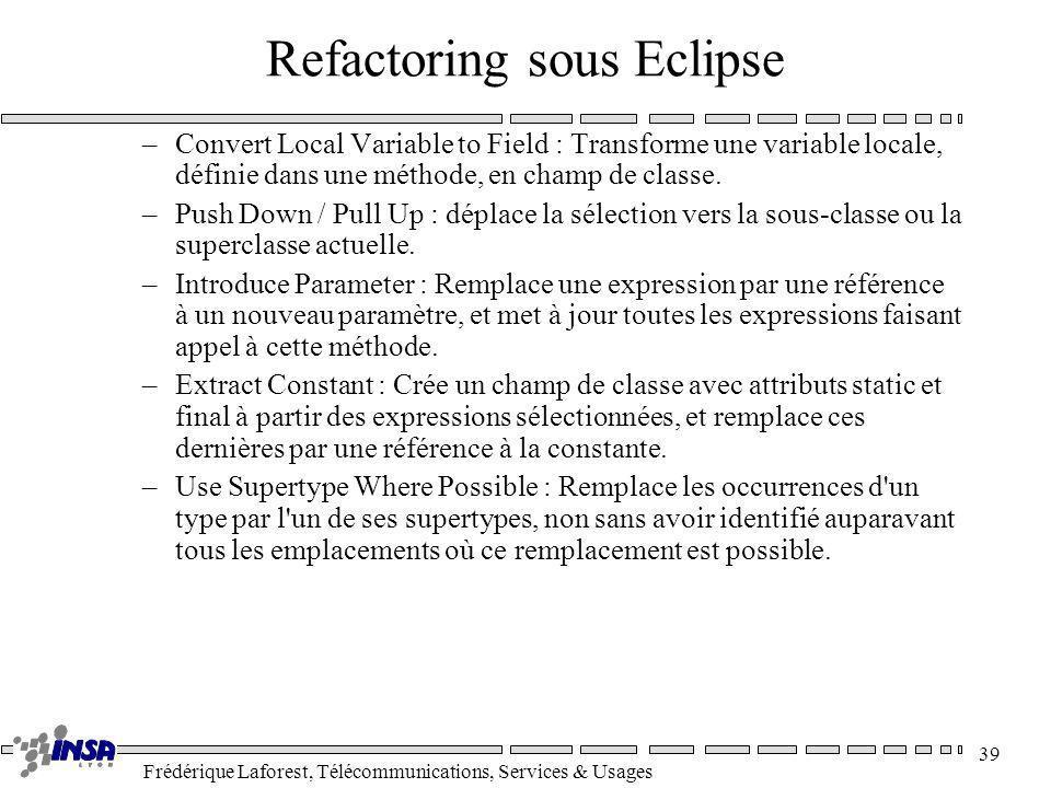 Refactoring sous Eclipse