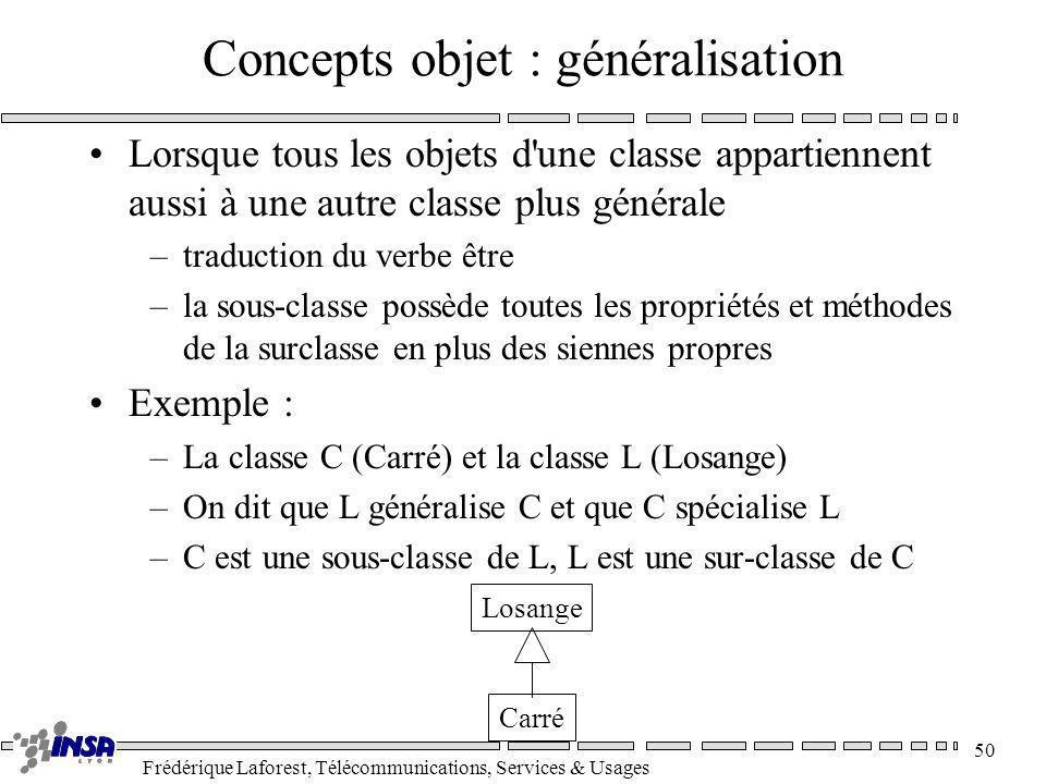 Concepts objet : généralisation