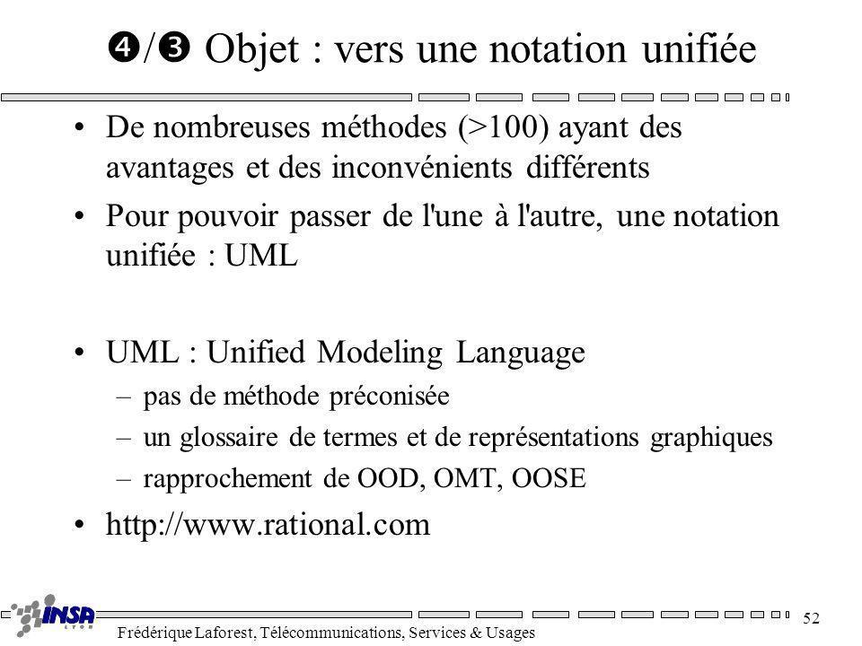/ Objet : vers une notation unifiée