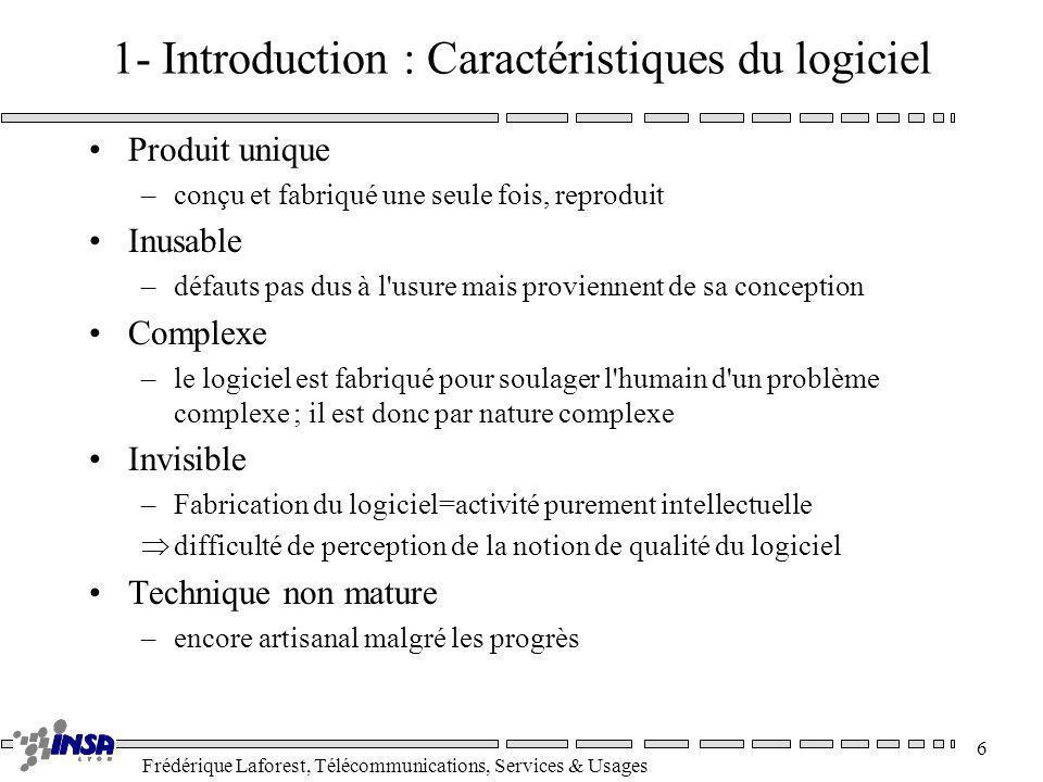 1- Introduction : Caractéristiques du logiciel