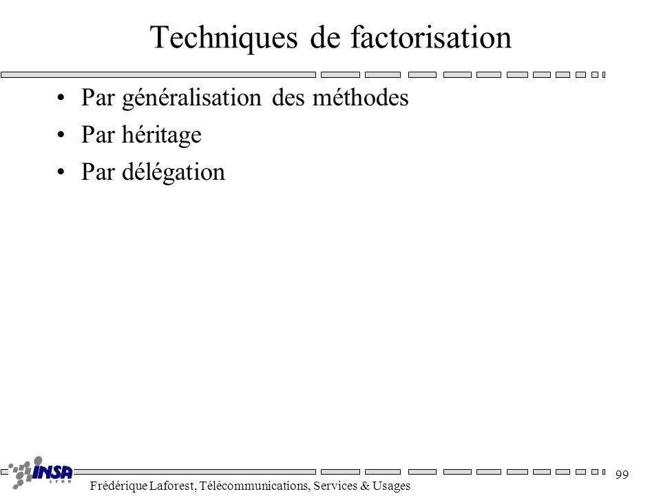 Techniques de factorisation