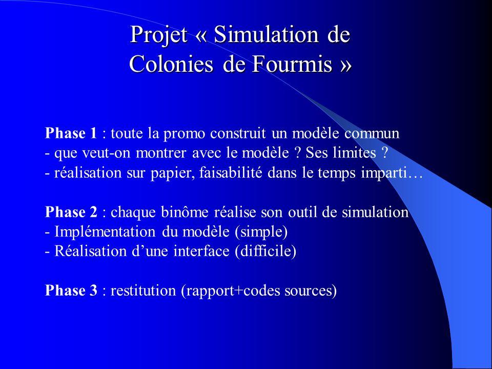 Projet « Simulation de Colonies de Fourmis »