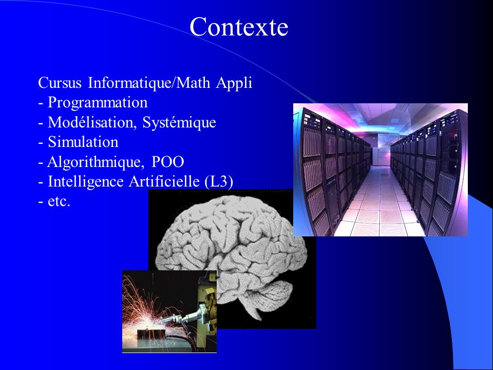 Contexte Cursus Informatique/Math Appli