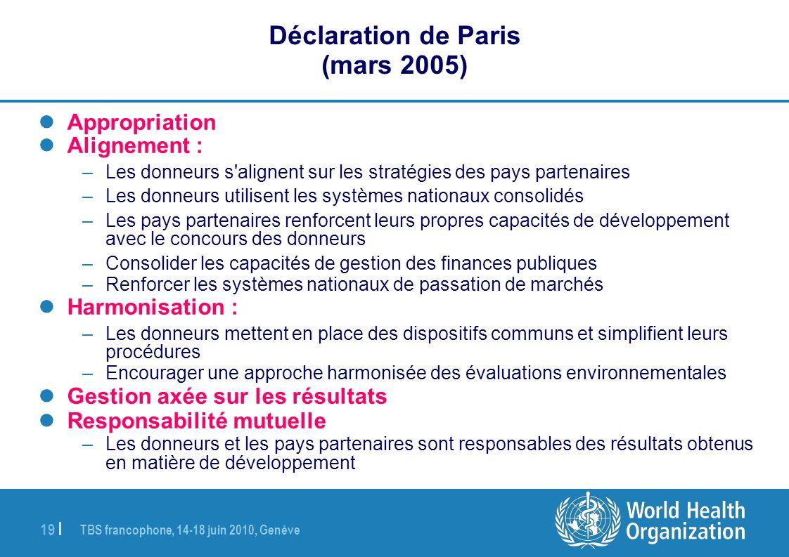Déclaration de Paris (mars 2005)