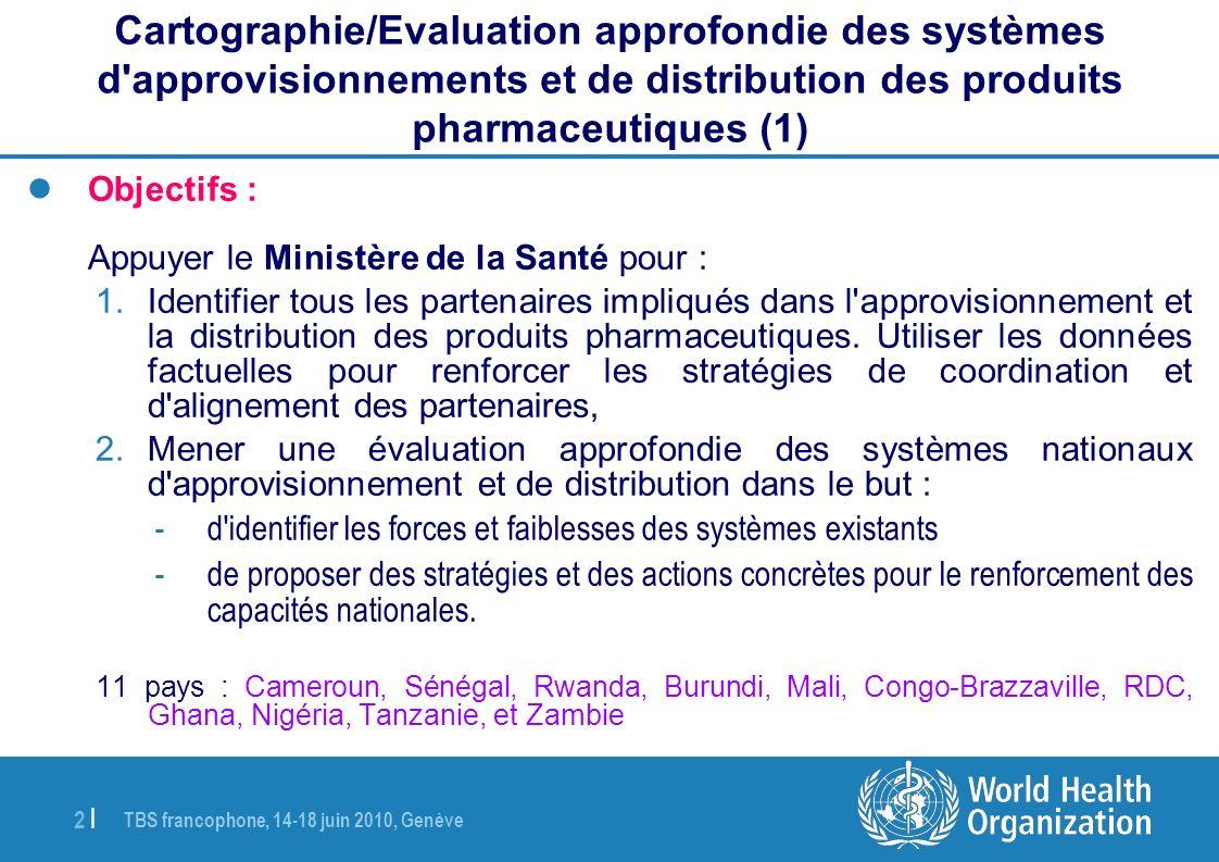 Cartographie/Evaluation approfondie des systèmes d approvisionnements et de distribution des produits pharmaceutiques (1)