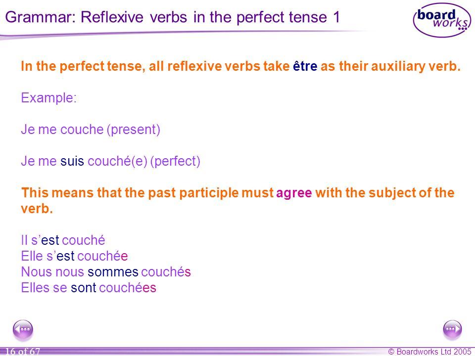 Grammar: Reflexive verbs in the perfect tense 1