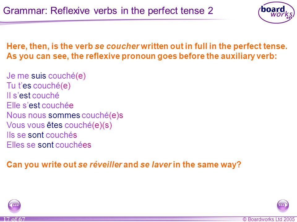 Grammar: Reflexive verbs in the perfect tense 2