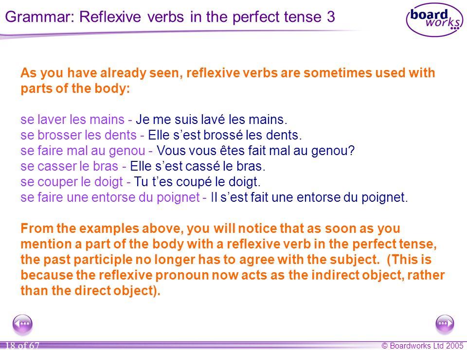 Grammar: Reflexive verbs in the perfect tense 3