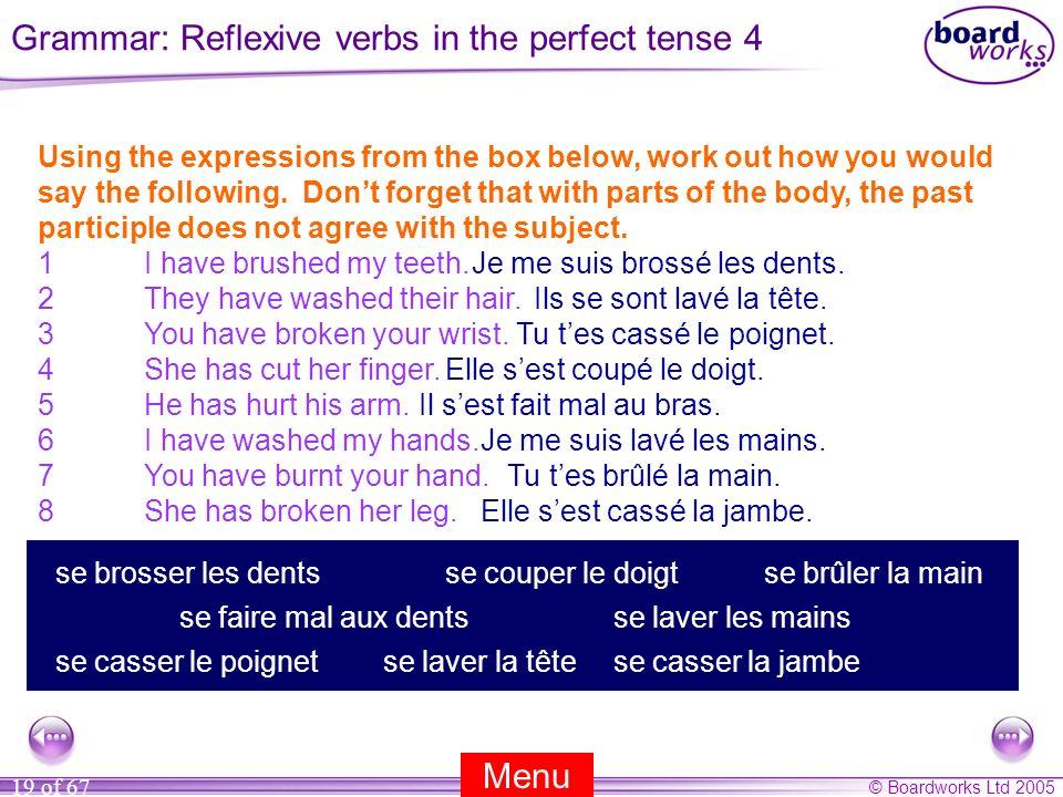 Grammar: Reflexive verbs in the perfect tense 4