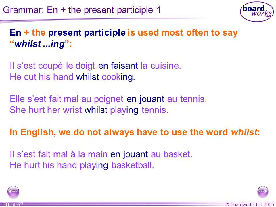 Grammar: En + the present participle 1