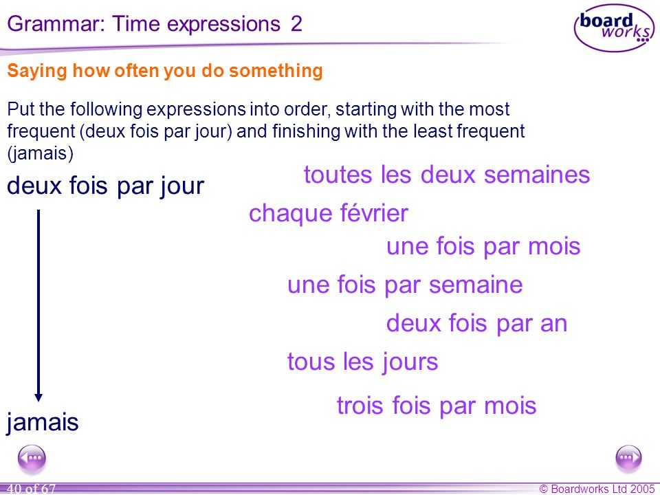 Grammar: Time expressions 2