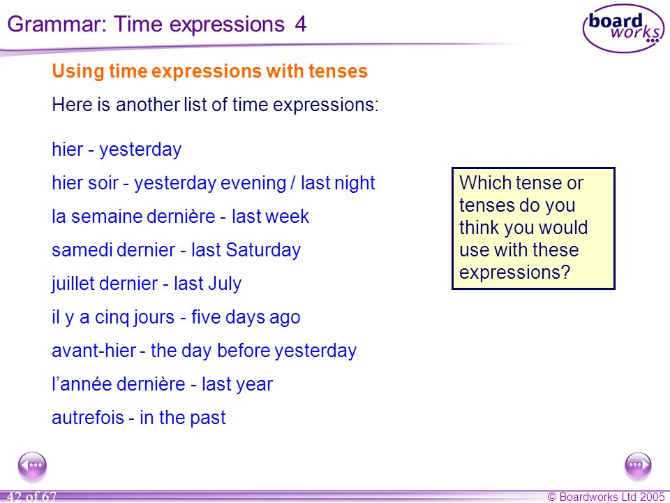 Grammar: Time expressions 4