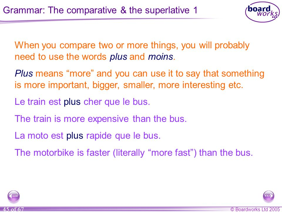 Grammar: The comparative & the superlative 1