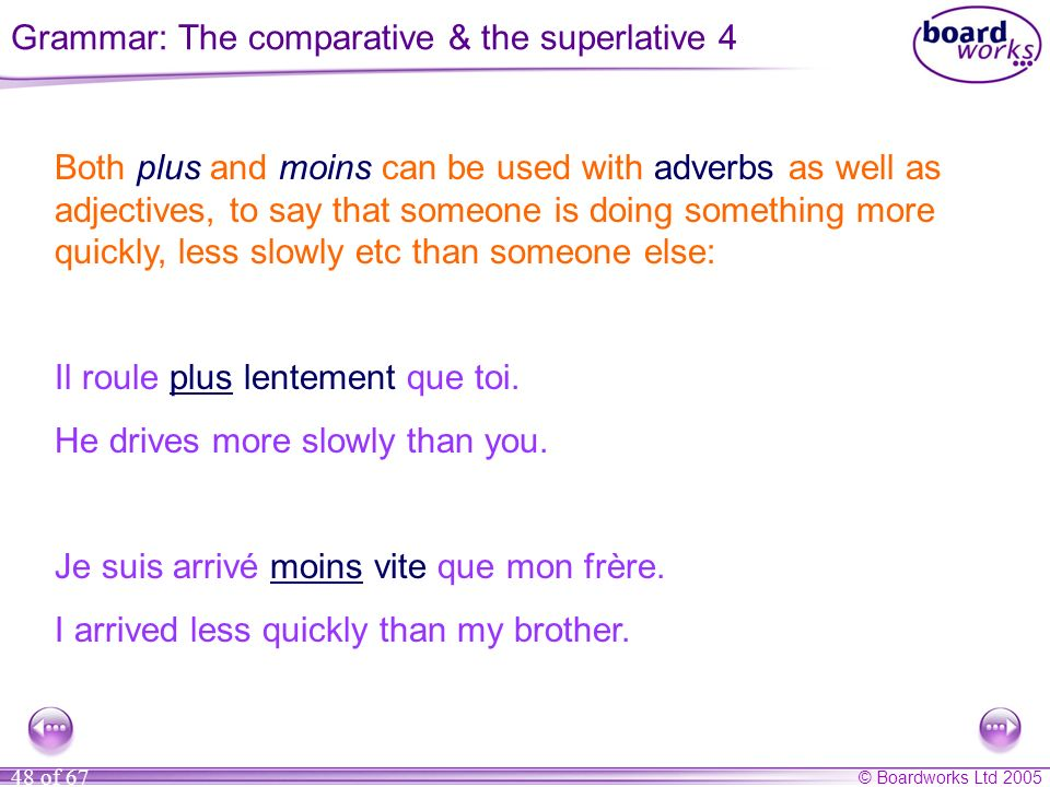 Grammar: The comparative & the superlative 4