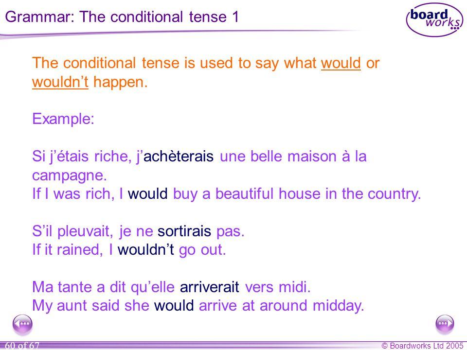 Grammar: The conditional tense 1