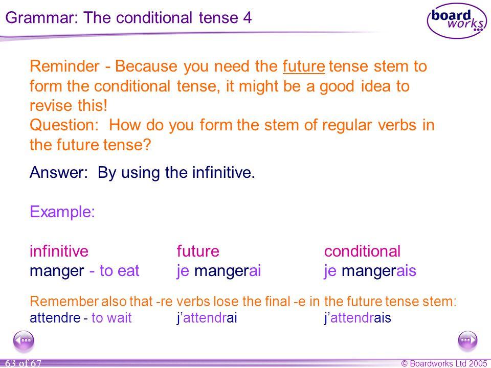 Grammar: The conditional tense 4