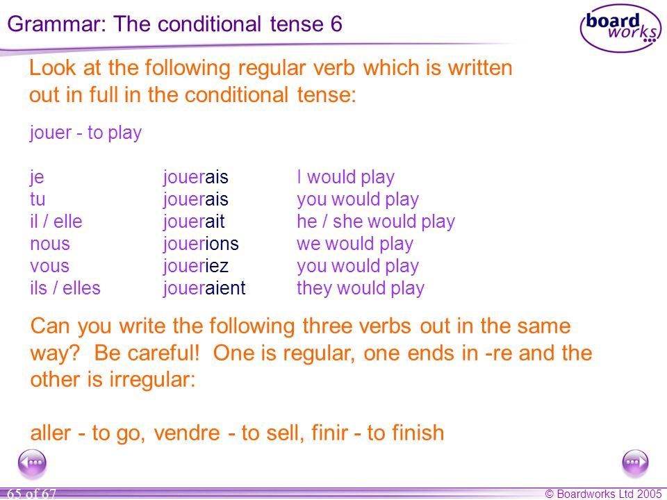 Grammar: The conditional tense 6