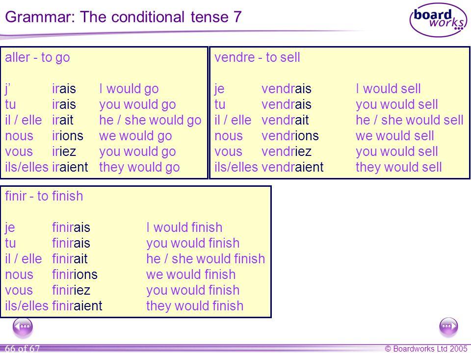 Grammar: The conditional tense 7