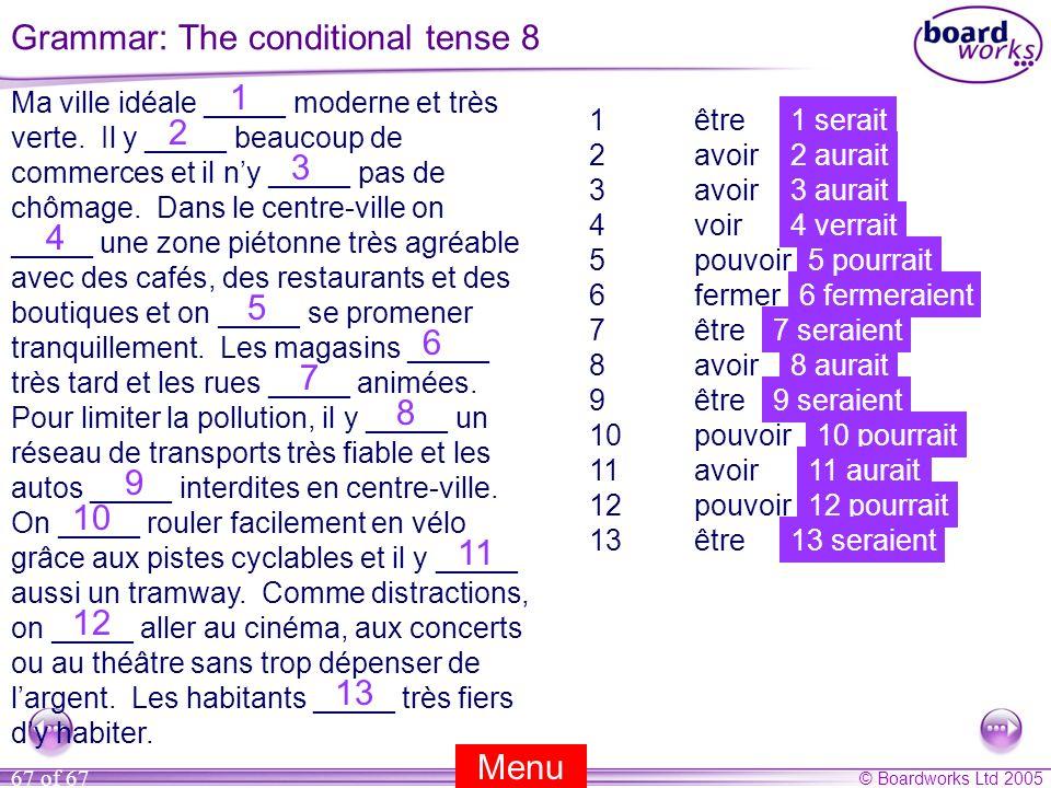 Grammar: The conditional tense 8
