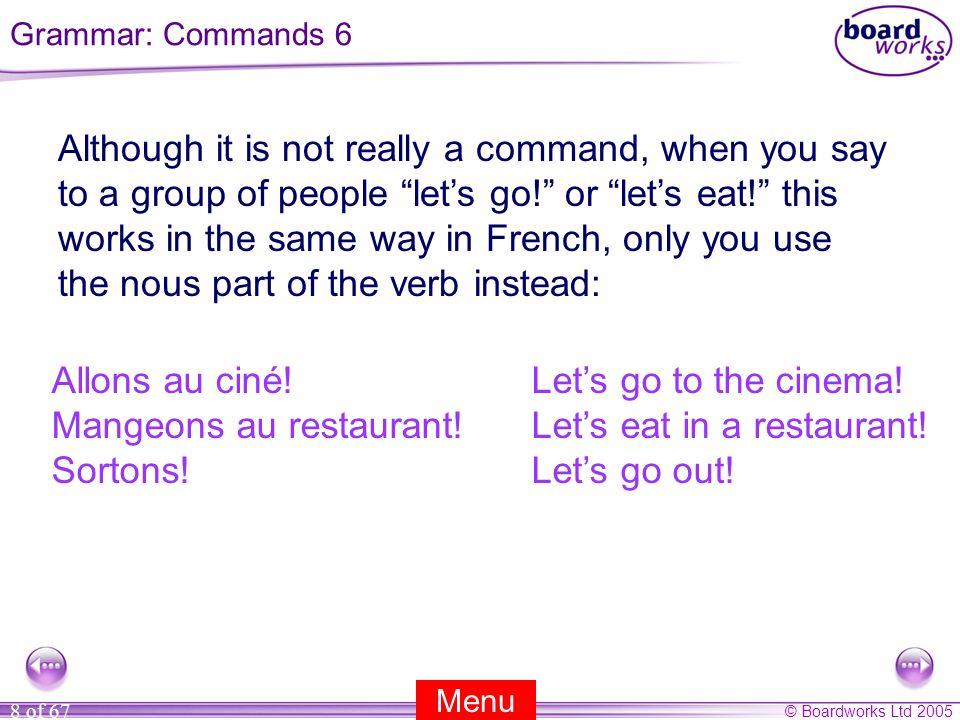 Allons au ciné! Let's go to the cinema!