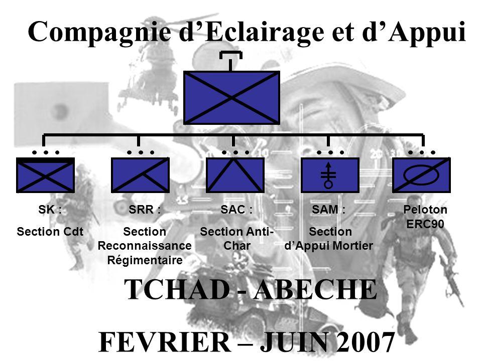 Compagnie d'Eclairage et d'Appui TCHAD - ABECHE FEVRIER – JUIN 2007