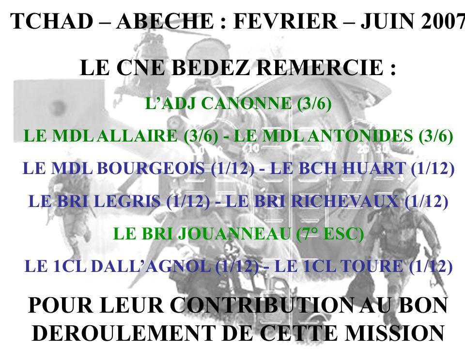 TCHAD – ABECHE : FEVRIER – JUIN 2007