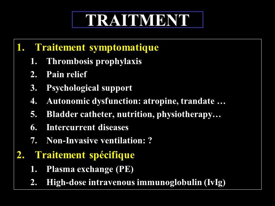 TRAITMENT Traitement symptomatique Traitement spécifique