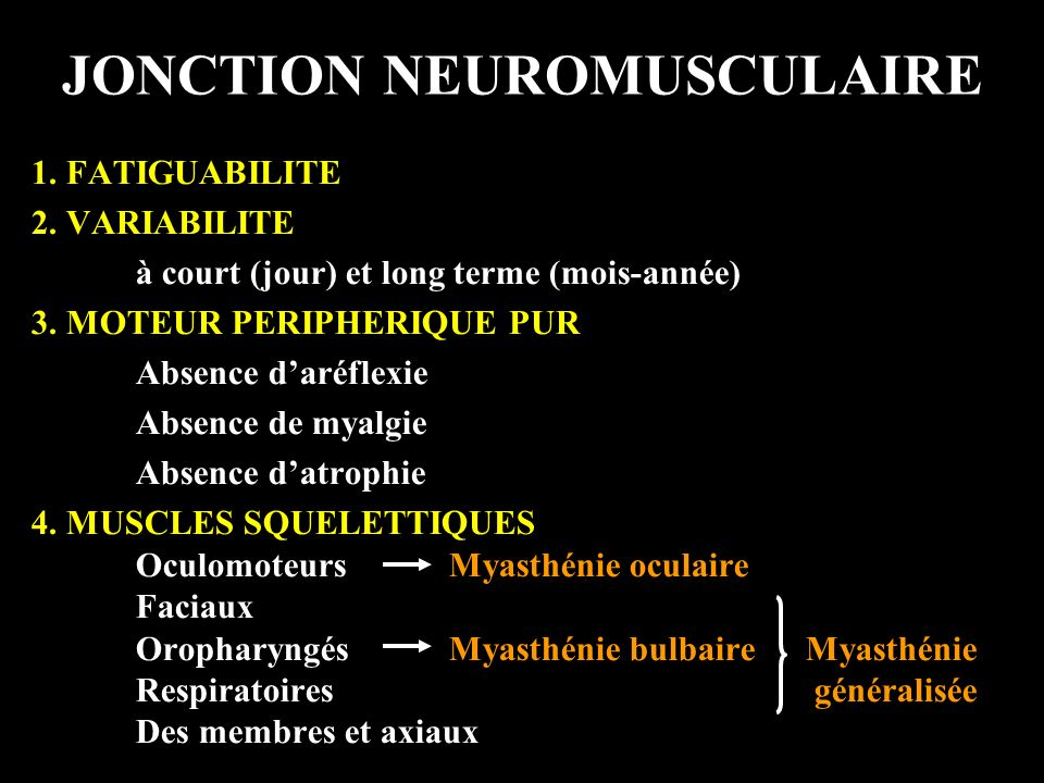 JONCTION NEUROMUSCULAIRE