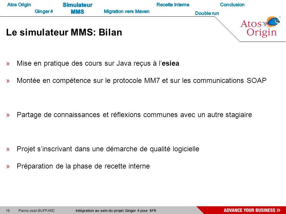 Le simulateur MMS: Bilan