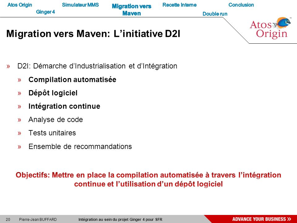 Migration vers Maven: L'initiative D2I