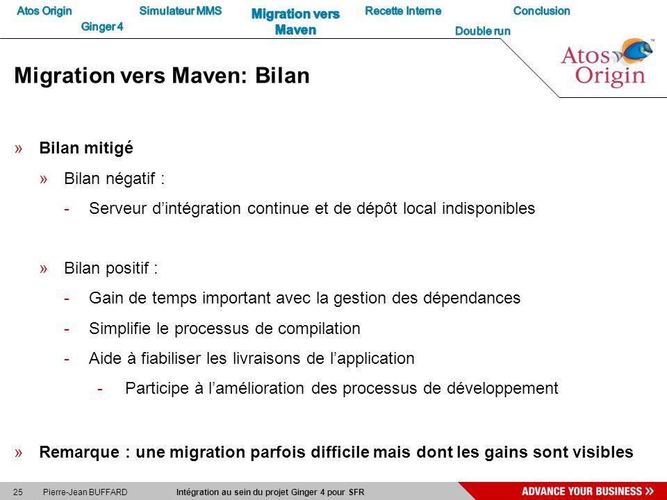 Migration vers Maven: Bilan