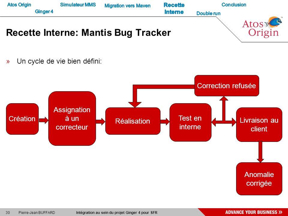 Recette Interne: Mantis Bug Tracker