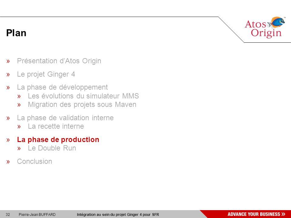 Plan Présentation d'Atos Origin Le projet Ginger 4