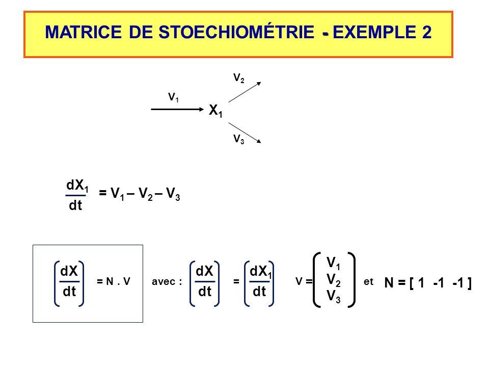 MATRICE DE STOECHIOMÉTRIE - EXEMPLE 2