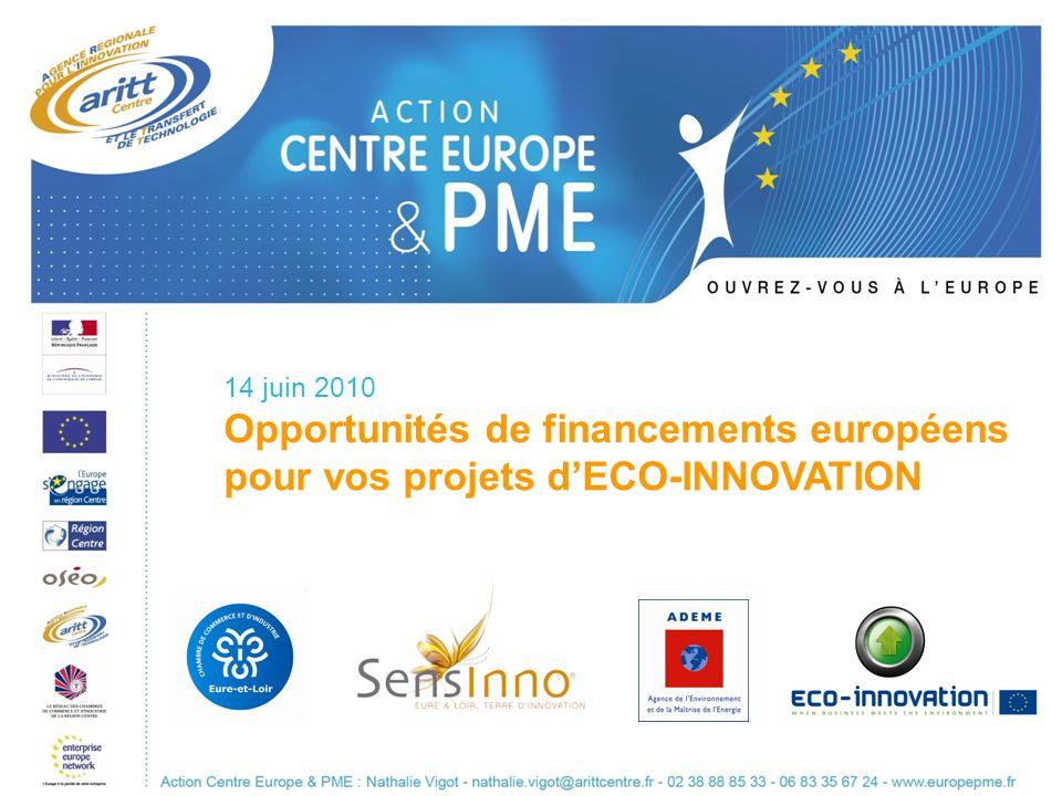 Opportunités de financements européens