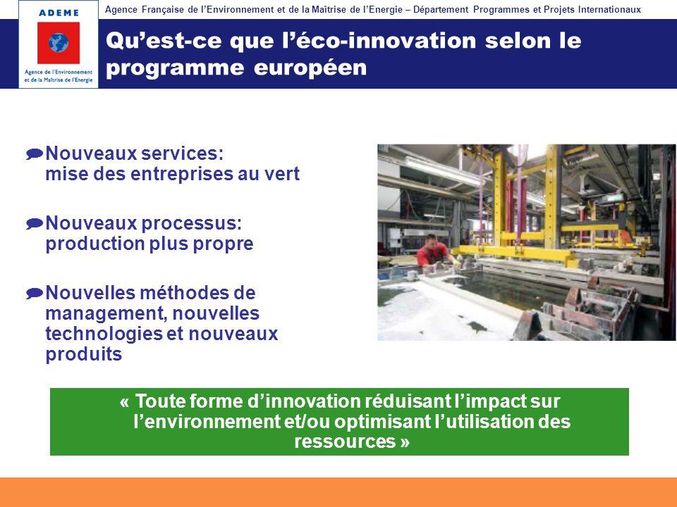 Qu'est-ce que l'éco-innovation selon le programme européen