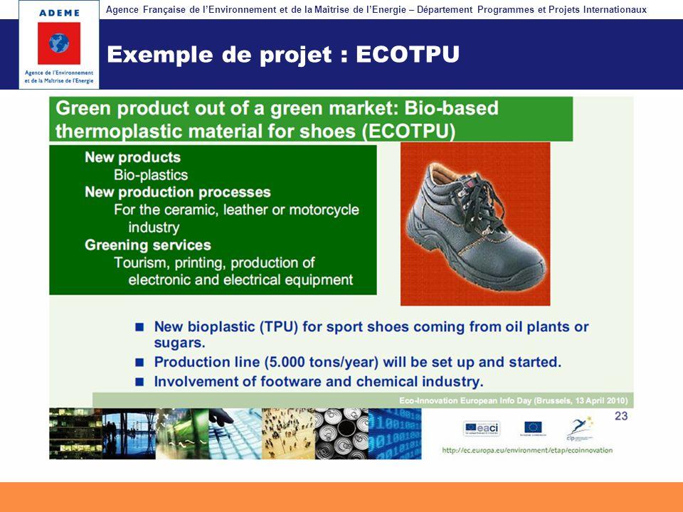 Exemple de projet : ECOTPU