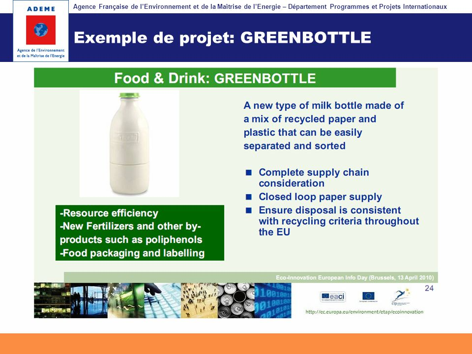Exemple de projet: GREENBOTTLE